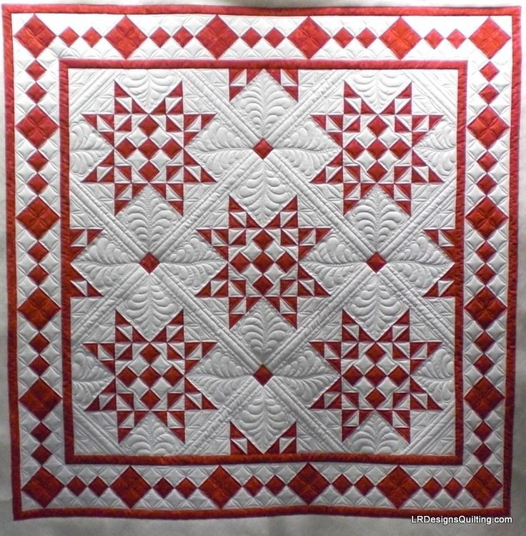 red and white. #quilt #quilting #longarmquilting #machinequilting #tinlizzie18