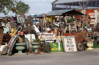"""A """"cluttered"""" flea market in Round Top, Texas"""