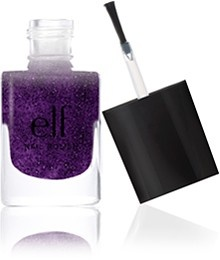 Perfect for holiday parties with LBDs! e.l.f. Essential Nail Polish in Dark Glit…
