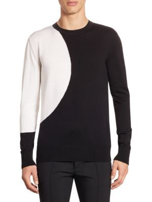DIESEL Kreem Colorblock Wool Sweater. #diesel #cloth #sweater