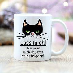 Lustige Kaffeetasse mit Grumpy Cat Motiv/ funny coffee cup with grumpy cat print made by wandtattoo-loft via DaWanda.com