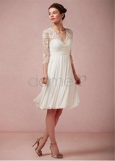 Brautkleid knielang standesamt