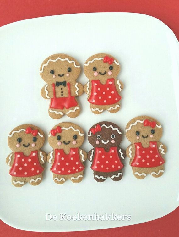 Gingerbread Boy & Girl Cookie Cutter Set door 3DCookieCutterShop