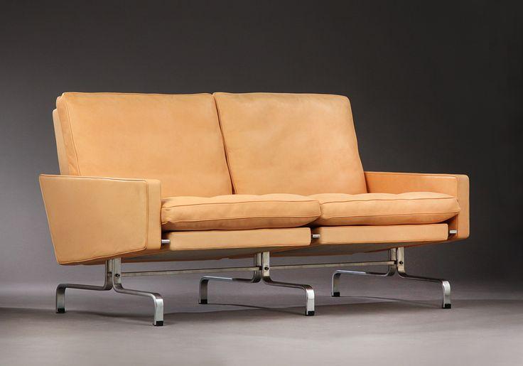 Poul Kjærholm . Sofa model PK-31/2. E. Kold Christensen Varunummer: 3513063
