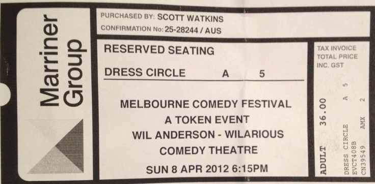 Wil Anderson, Melbourne International Comedy Festival, 2012