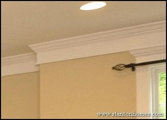 Craftsman Style Ceilings | Types of Crown Moulding | Custom Home Trim Styles