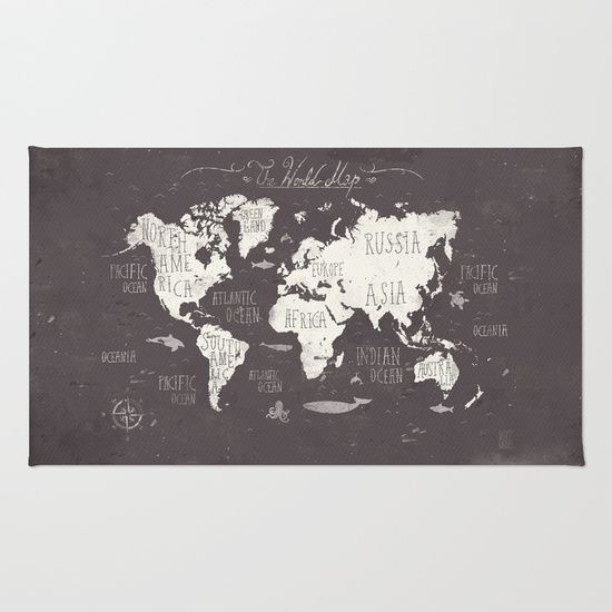 The World Map Rug by Mike Koubou - $28.00
