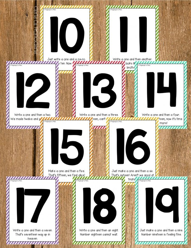 Fun rhymes for the numbers 10-20. Such a helpful teen number activity! Memorable way to learn the order of digits.