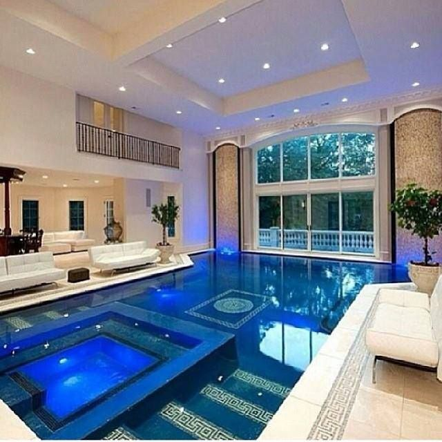 luxury indoor swimming pool inside a mansion located near new york - Luxury Homes With Pools
