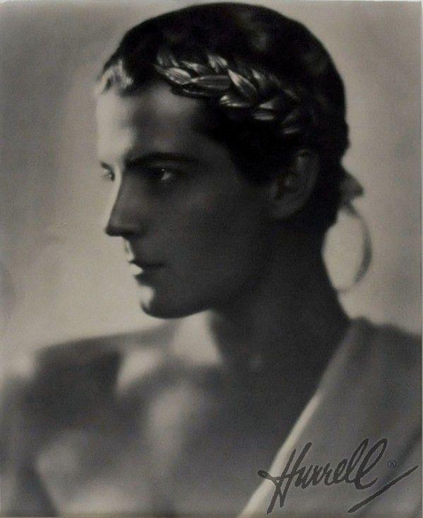 "Ramon Novarro as ""The New Orpheus"" in a portrait by George Hurrell. #silentfilm #RamonNovarro"