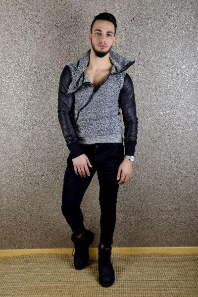 FERMUAR DETAYLI JAKAR KAZAK - kleydo / Bay ve Bayan Giyim Mağazası