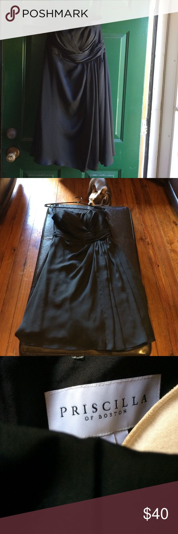 Vintage Priscilla of Boston dress size 10 Elegant, black strapless dress from Priscilla of Boston, known for being an amazing wedding dress designer in New York for 65 years before closing. Smoke free home. Dog mom. Very flattering dress!!!!! If this doesn't sell I'm keeping it for my 2018 cruise!!!! It's stunning!!! priscilla of boston Dresses Strapless
