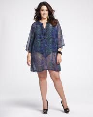 chiffon cover-up dress | Shop Online at Addition Elle