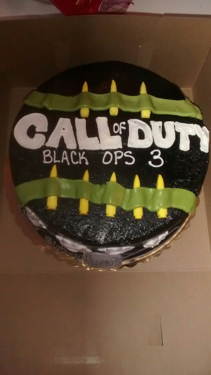 Call of Duty Black Ops 3 theme Birthday cake