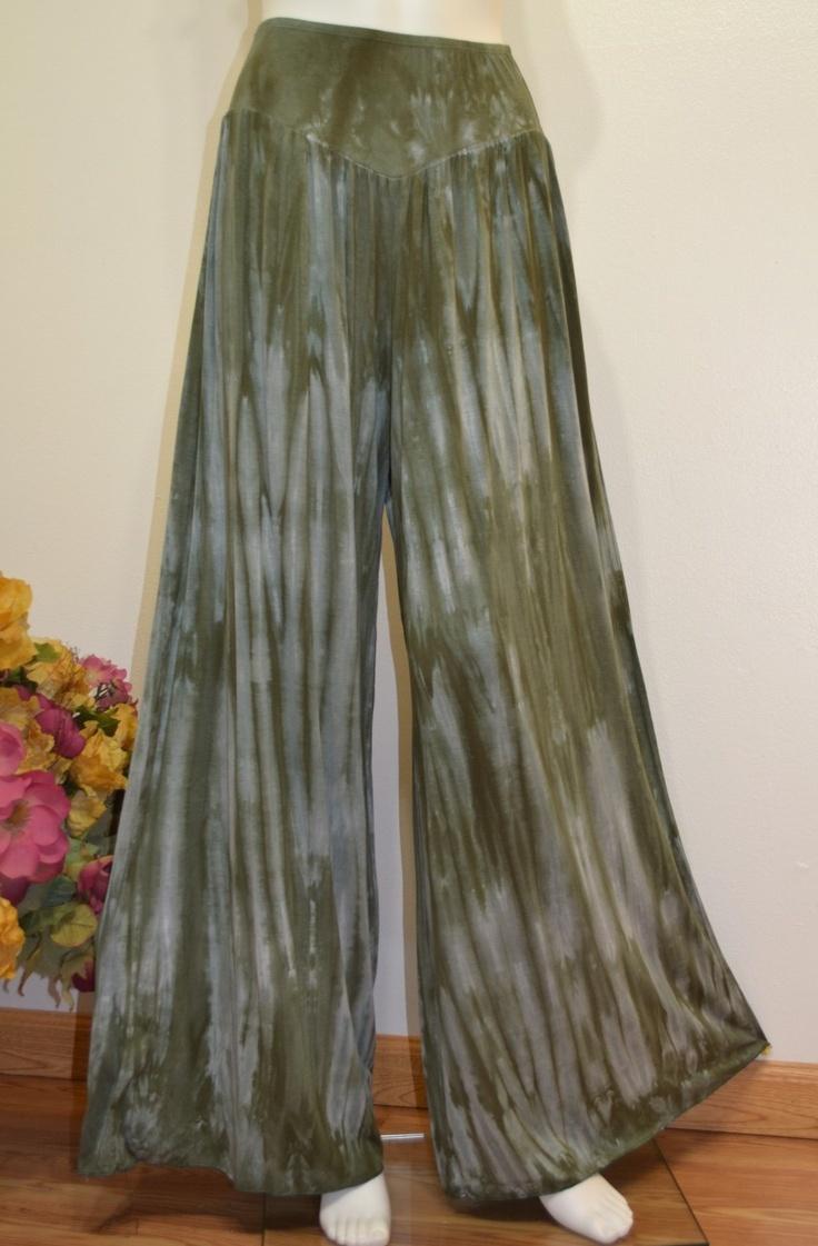 Hayaa Clothing - Army Green Bamboo Tie-Dye Design Wide Leg Palazzo Pants ,(http://www.hayaaclothing.com/army-green-bamboo-tie-dye-design-wide-leg-palazzo-pants/)
