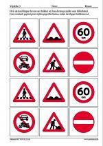 Samlade trafikskyltar