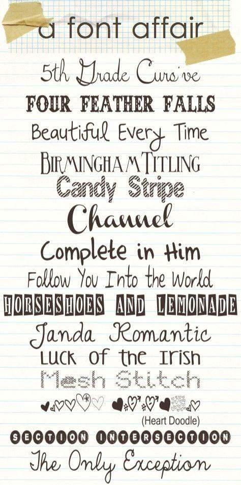 free fonts by TinyCarmen