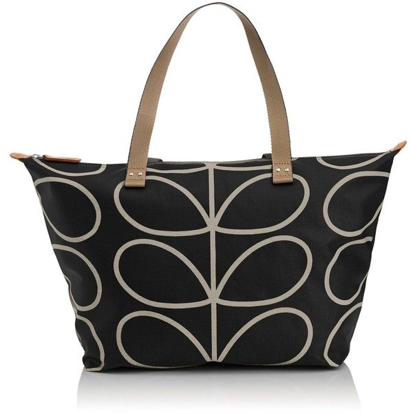Orla Kiely Core Linear Zip Shopper Shoulder Bag ($89) ❤ liked on Polyvore featuring bags, handbags, shoulder bags, evening purse, long shop bag, orla kiely handbags, zipper shoulder bag and zipper handbag