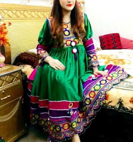 #green #afghani #dress