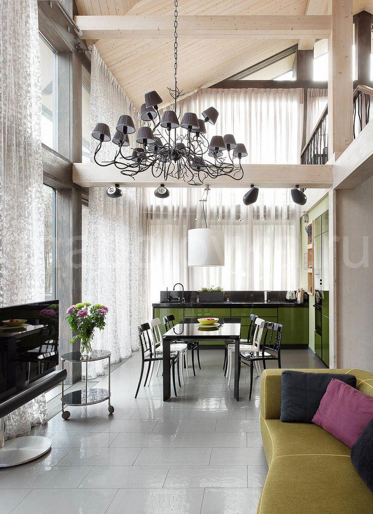 деревянный дом в современном стиле, modern timber house