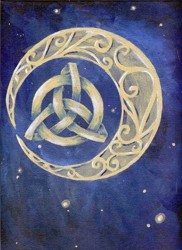 Celtic moon cool tat idea