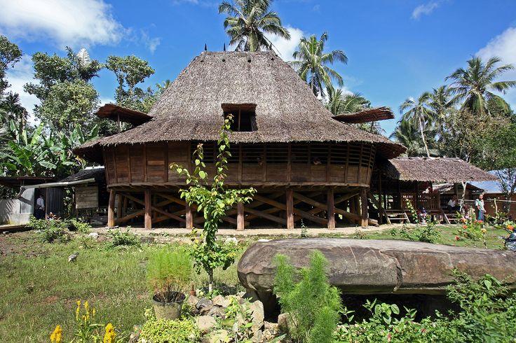 Traditional house in Te'olo village in remote Tugala Oyo sub-district. North Nias Regency, Nias Island, Indonesia. Photo by Bjorn Svensson. www.northniastourism.com