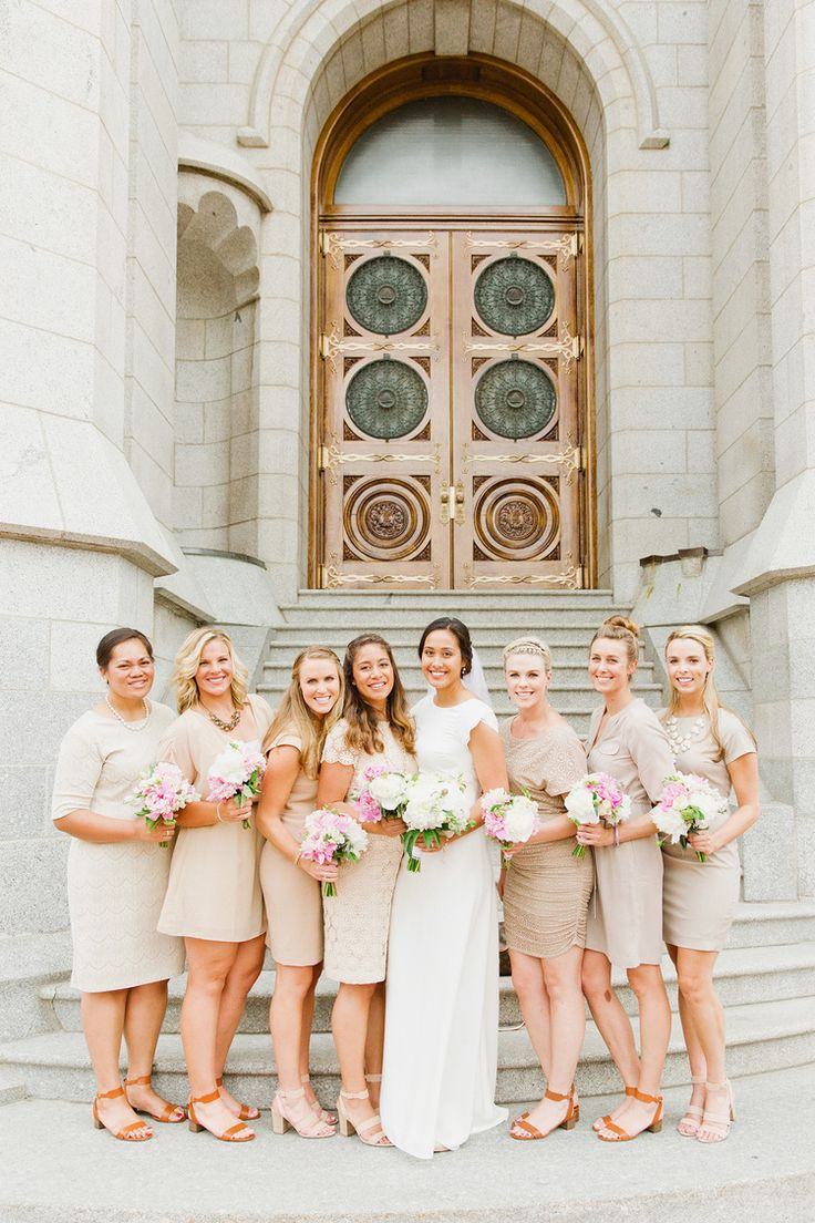 Salt Lake Temple Wedding Stephanie Sunderland Photography Utah Photographer LDS Modest Dress