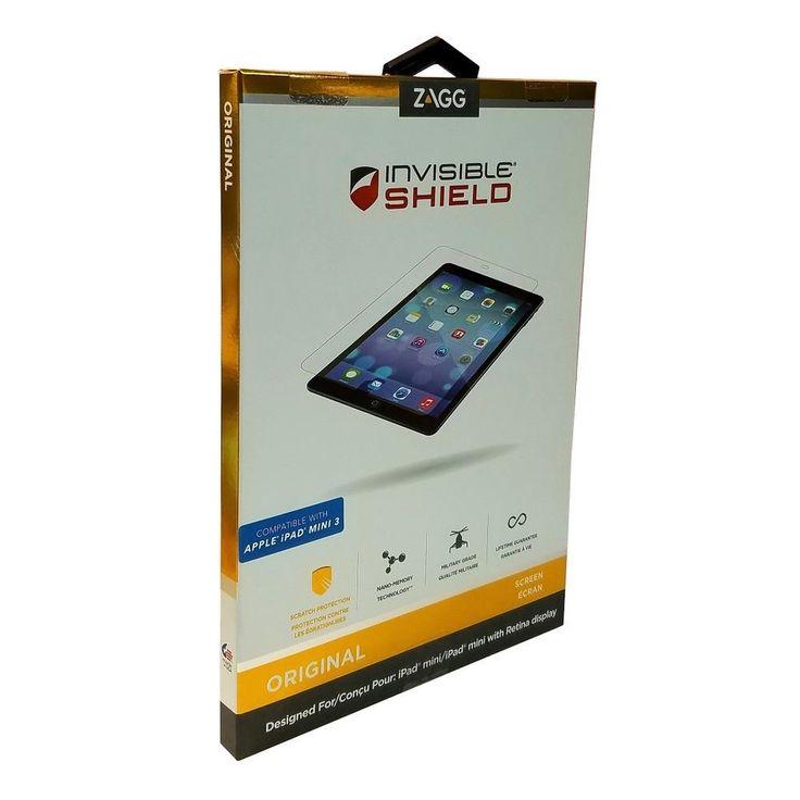 Zagg Invisibleshield Military Grade Screen Protector For Ipad Mini Ipad Mini 2 & Mini 3 Standard Packaging Clear Tfappipadmins