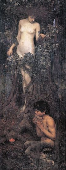 """A Hamadryad"" by John William Waterhouse"