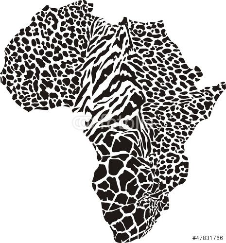 Vector: Africa in a animal  camouflage