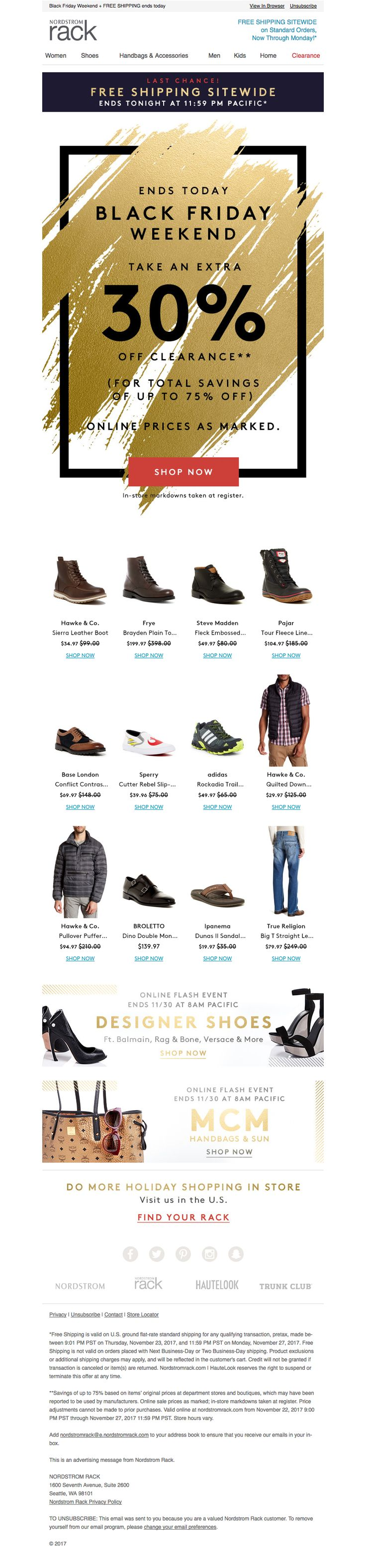 Nordstrom Rack: Black Friday Weekend