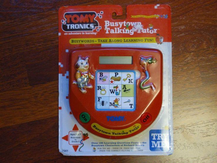 NEW Vintage 1995 Tomy Tronics Richard Scarry Busytown Talking Tutor Toy - NIP #TOMY