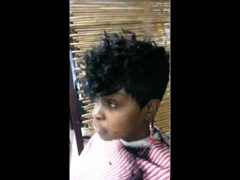 Feathered Bob Quick Weave Short Cut Weave 28pc Janet