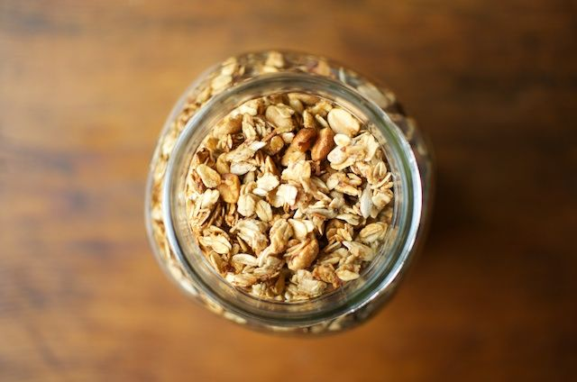 This homemade granola recipe is so easy but so good! It's way better than store…