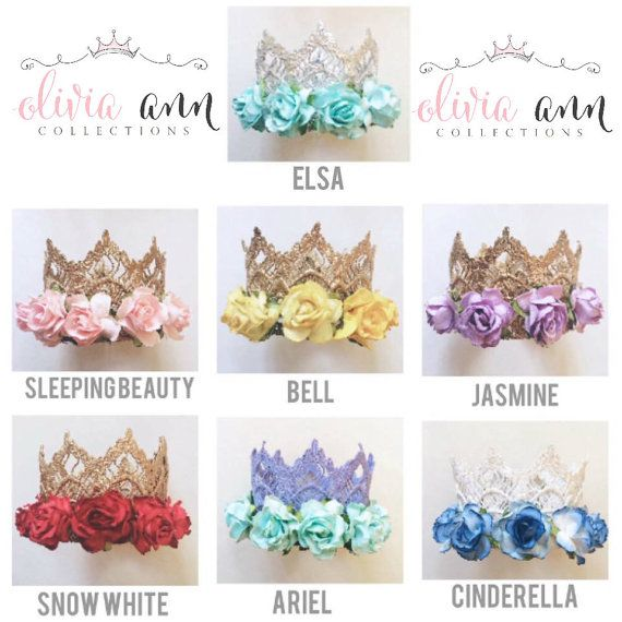 New Disney Princess Inspired crowns dress by Oliviaanncollections