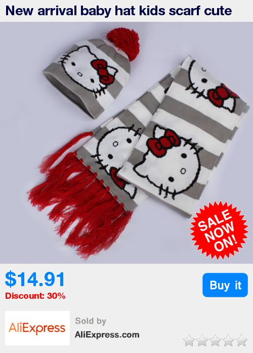 New arrival baby hat kids scarf cute cartoon hello kitty kids winter hats warm baby scarf hat scarf piece * Pub Date: 16:23 Jun 28 2017