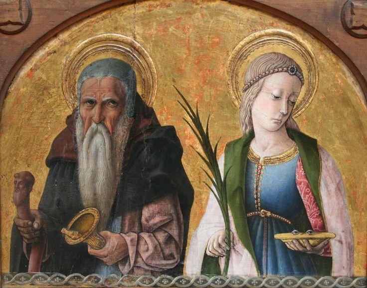 Carlo Crivelli - Sant'Antonio e Lucia