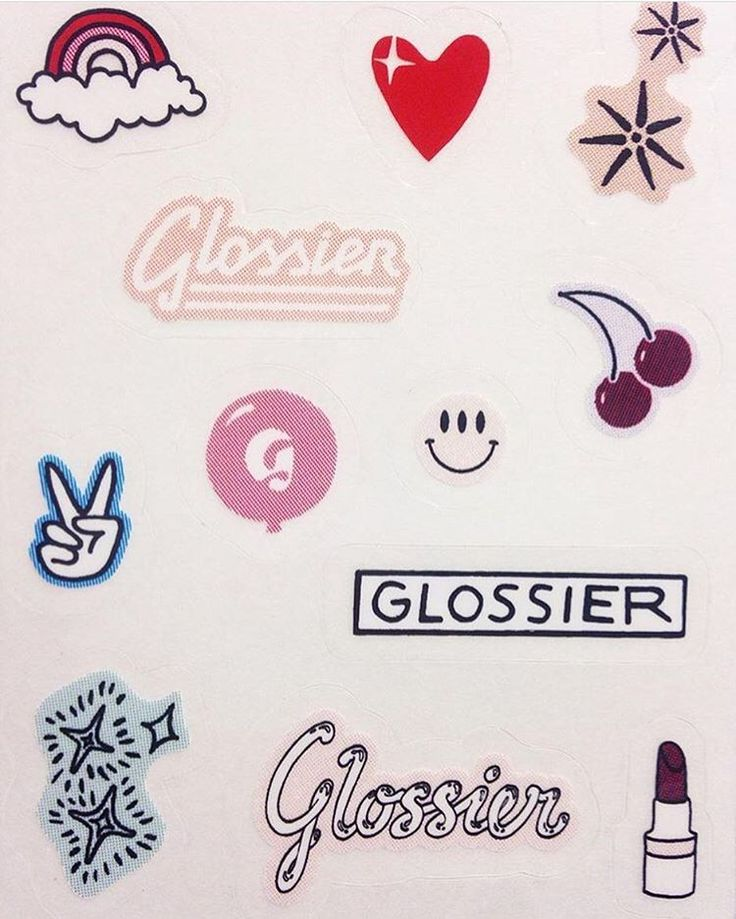 Glossier stickers