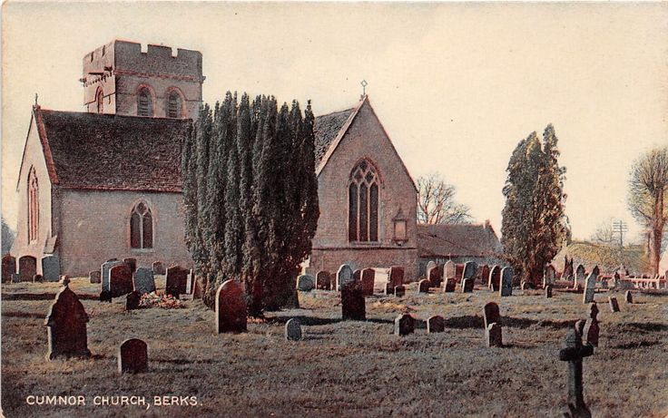 CUMNOR BERKSHIRE (NOW OXFORDSHIRE) UK ST MICHAELS PARISH CHURCH~GRAVES POSTCARD in Collectables, Postcards, Topographical: British | eBay
