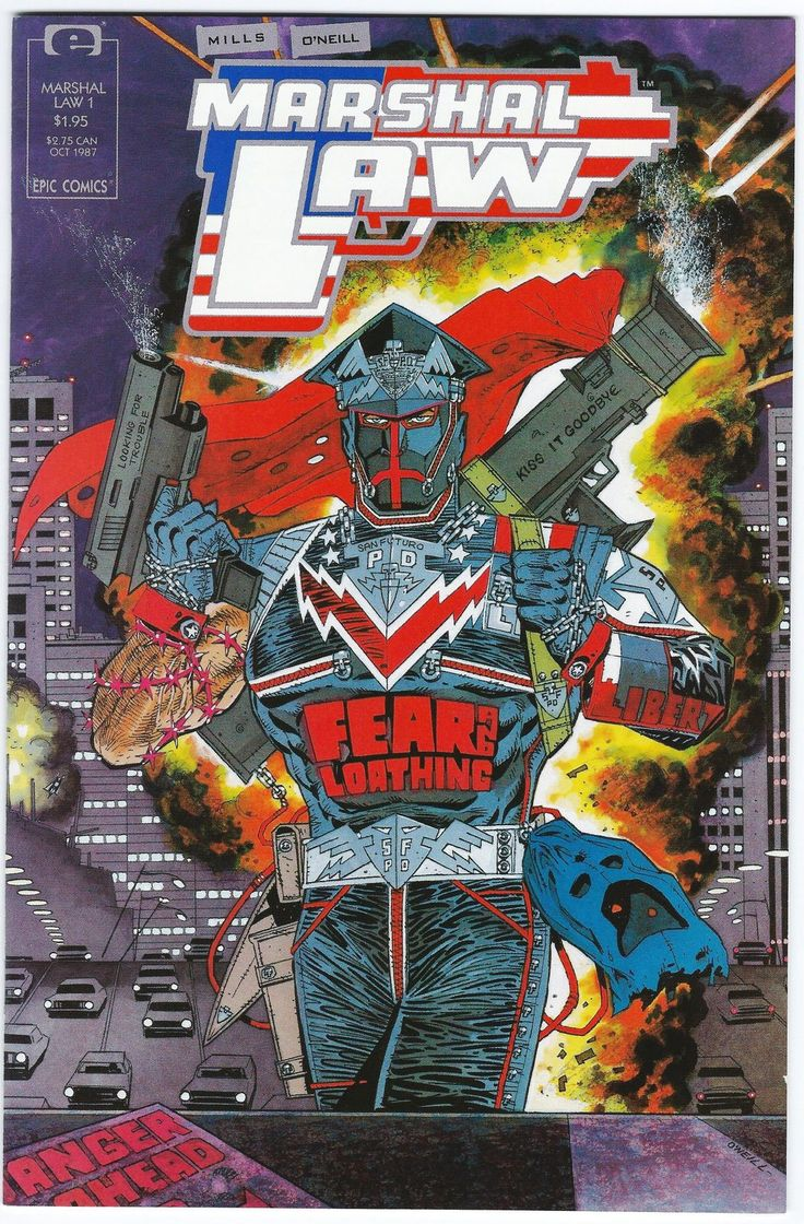 Marshal Law #1 NM Kevin O'Neill Pat Mills - Epic Marvel Comics 1987 - Other
