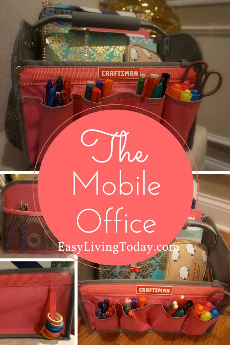 Planner Ideas : Mobile office, easily moving your planner supplies from room to room