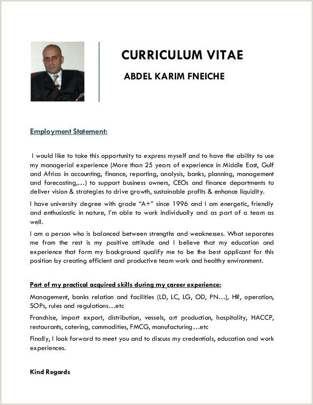 Exemple De Cv Ivoirien Curriculum Vitae How To Plan Resume Examples