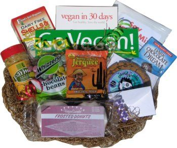 126 best healthy gift baskets images on pinterest gift ideas go vegan gift basket negle Image collections