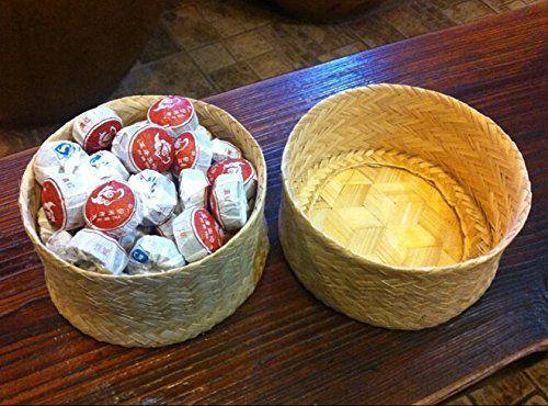 Pu erh gâteaux mini thé Tuocha fermenté, plus haut grade au total 270 grammes dans la boîte de bambou emballage JOHNLEEMUSHROOM http://www.amazon.fr/dp/B0107PRFMS/ref=cm_sw_r_pi_dp_Df83vb1QTT5X4