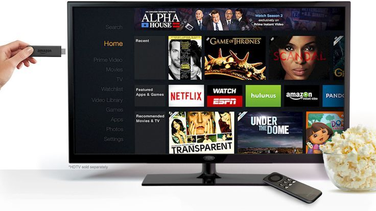 Amazon is introducing the Fire TV Stick, a Chromecast-style streaming device that exists entirely in a small stick that plugs into a TVs HDMI port. The Stick goes on sale for $39 beginning... #blogtecnologia #tecnologia #chromecast #googlechromecast