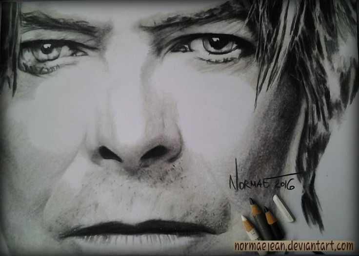 Normaearts portraitdrawing David Bowie tribute by NormaeJean.deviantart.com on @DeviantArt