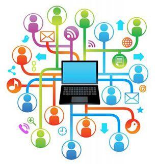 Internet dan media sosial adalah penghubung kita