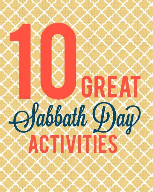 10 Great Sabbath Day Activities #lds