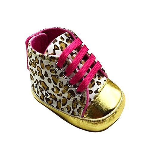 Itaar Cute Baby Toddler Infant Leopard Crib Shoes Soft Sole Months: Size:  Months), Months), Months) brAttention: Size may be inch inaccuracy due to  hand ...