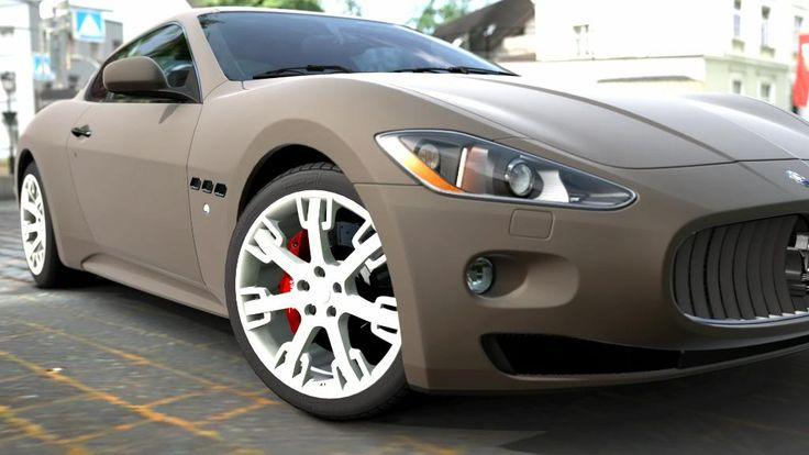 Matte brown Maserati